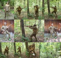 WWI Doughboy Cosplay Collage by KrDoz
