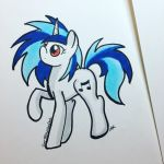 Vinyl Scratch w/o her Iconic Glasses by RedPalette