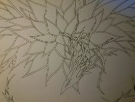 Black Rose Dragon WIP by cynderplayer