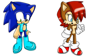 sonic and sally clothes swap by StarryRaccoon