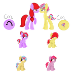 MLP - Breedable Foals - Sugar Pop and Clip Clop by cheesepuff2