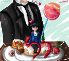 Ciel with a cherry on top by miilitamoon