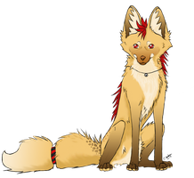 maned wolf Neko by NepiCanis