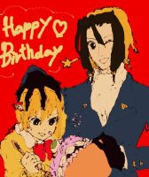 Happy Birthday Neuro and Yako by nibblies