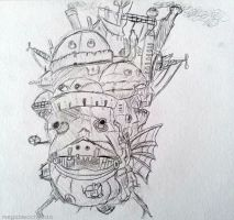 Howl's Moving Castle Drawing by MegaBleachy