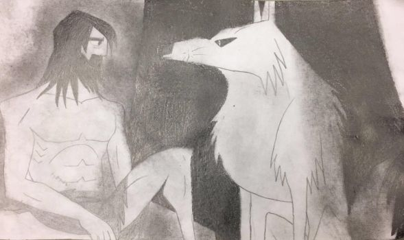 Samurai Jack: Jack and the Wolf by DarkAngelHedgie