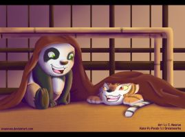 KFP Cubs Po And Tigress by zeaeevee