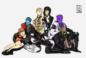 Mass Effect Group Color Set 1 by Idrawgirlz
