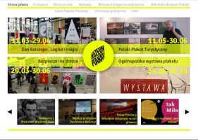 Website for Wilanow Poster Museum by niobe-pro