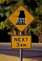 Dalek Road Sign by Carthoris
