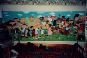Hey Arnold Character Mural by Shaami