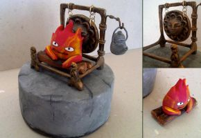 Calcifer Chimney Figure by vrlovecats