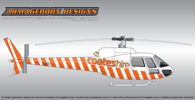 Coates Hire Ecureuil AS350 by ArmageddonDesigns