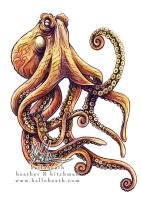 Giant Pacific Octopus Tattoo Design by helloheath