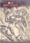 Psylocke Sketch Card by RyanKinnaird