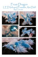 Frost Dragon Posable Art Doll With LEDs by Eviecats