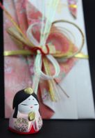 Hina Matsuri Girl Porcelain Doll with Wedding Card by Rea-the-squirrel