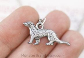 Ferret Necklace by MonsterBrandCrafts