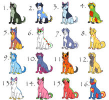 .:Pokemon Dogs 1:.-ALL GONE- by Carmens-Adopts
