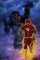 Grodd and flash by albertoaprea