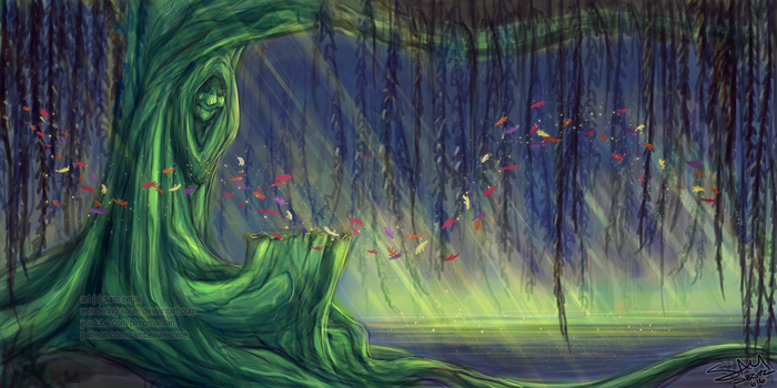 Grandmother Willow by sambeawesome