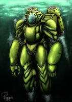 Heavy Atmospheric Diving Suit SEA KONG by The-Spirit-Reaper
