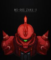 Zaku II by Bing0ne