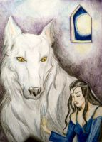 Luthien y Huan by Gala-maia