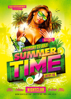 SummerTime Party | Psd Flyer Template by creative-flyerz