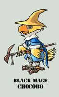 RPG BAAUmon: BlackMage Chocobo by Silvertide