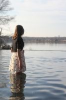 Girl on the Water Stock by StockTownNation