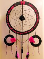 Dreamcatcher Pink and Black by BlindFaeth