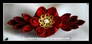 Red Fire Flower by Kurokami-Kanzashi