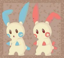 Plusle and Minun Soulja Boy by MichiTheThird