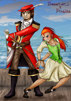 The girl and the captain by Super-kip