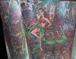 Tiki Tattoo long time coming.. by ShannonRitchie
