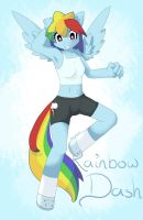 Rainbow Dash - Anthro by TesslaShy