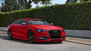 Red Audi S5 by backOPS