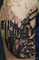 NewYork at night by Remistattoo
