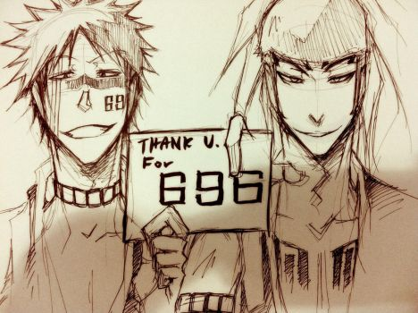 Bleach - thank for 696 like by pandabaka