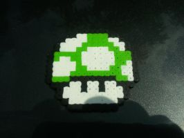 1UP Mushroom Bead Sprite by vaporsnake7
