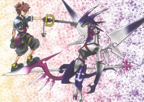 Sora VS Dragoon by kirakam