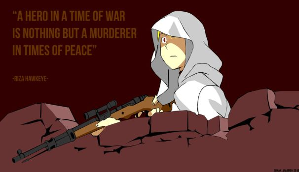 The White Hooded Sniper by bukanumairoh