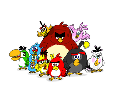 The True Angry Birds Movie Flock by AngryBirdsStuff