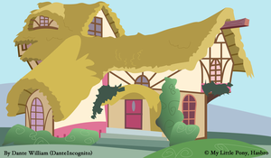 MLP - Background Test 2 - Ponyville House by DanteIncognito