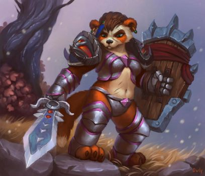 Strong Panda by lowly-owly