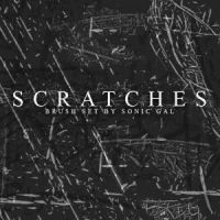 Scratches Brush Photoshop by analeewon
