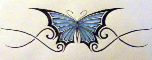Butterfly Tattoo by Mustang-Lover