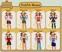 PKMN-Crossing - Maggie's Outfit Meme by NoyiiArts