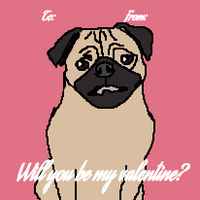 Pug Valentine by Ask-The-Pug